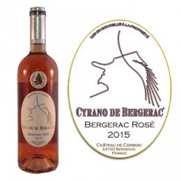Bergerac Rosé AOC 2015 (bouteille de 75cl.)